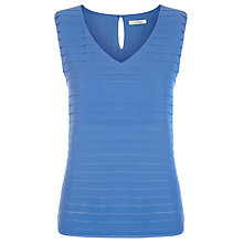 Buy Kaliko Pleat Top, Mid Blue Online at johnlewis.com