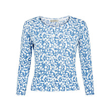 Buy Hobbs Mira Cardigan, Blue / White Online at johnlewis.com