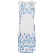 Buy Kaliko Embroidered Shift Dress, White Online at johnlewis.com