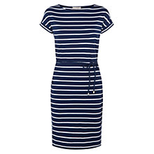 Buy Hobbs Libby Dress, French Navy White Online at johnlewis.com