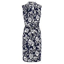 Buy Hobbs Johanna Dress, French Navy White Online at johnlewis.com