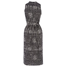 Buy Oasis Paint Pot Midi Dress, Black/White Online at johnlewis.com