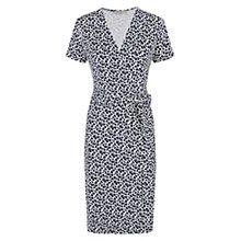Buy Hobbs Mabel Wrap Dress, French Navy White Online at johnlewis.com