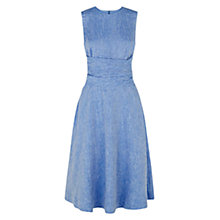 Buy Hobbs Twitchill Linen Dress, Mid Blue Melange Online at johnlewis.com