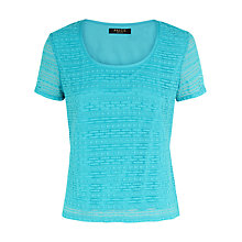 Buy Precis Petite Suzie Lace Top, Aqua Online at johnlewis.com