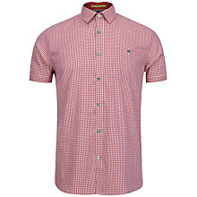 Buy Ted Baker Sandwich Small Check Short Sleeve Shirt Online at johnlewis.com