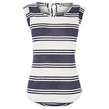 Buy Oasis Stripe Bow T-shirt, Multi Blue Online at johnlewis.com