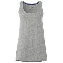 Buy White Stuff Yoga Time Cotton Vest, Summer Fog Online at johnlewis.com