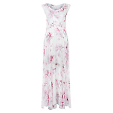 Buy Hobbs Magnolia Silk Maxi Dress, White Online at johnlewis.com