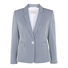 Buy Hobbs Kaley Jacket, Blue/White Online at johnlewis.com