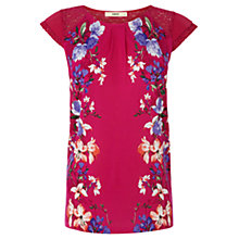 Buy Oasis Rose Blossom Placement Top, Mid Pink Online at johnlewis.com