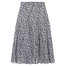 Buy Hobbs Mabel Skirt. French Navy / Ivory Online at johnlewis.com