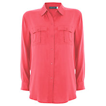 Buy Mint Velvet Relaxed Shirt, Papaya Online at johnlewis.com