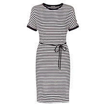 Buy Hobbs Laura Dress, Ivory Navy Online at johnlewis.com