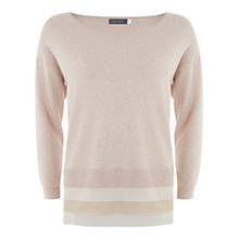 Buy Mint Velvet Silk Hem Jumper, Pale Pink Online at johnlewis.com