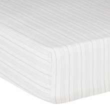 Buy Christy Clerkenwell 200 Thread Count Cotton Percale Fitted Sheet, Cream Online at johnlewis.com