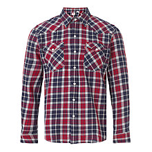 Buy Levi's Western Plaid Check Shirt, Plaid Dress Blue Online at johnlewis.com