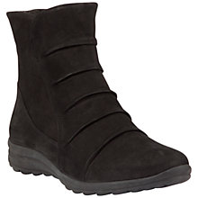 Buy Gabor Irma Wide Ruched Ankle Boots, Black Nubuck Online at johnlewis.com