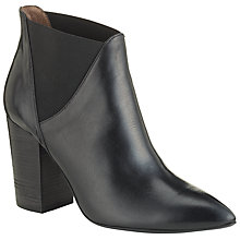 Buy H by Hudson Crispin High Heel Ankle Boots, Black Leather Online at johnlewis.com