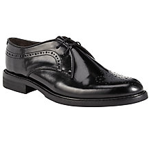 Buy H by Hudson Magize Patent Leather Brogues, Black Online at johnlewis.com