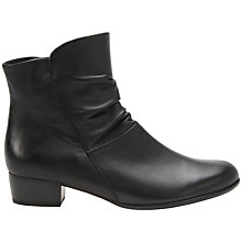 Buy Gabor Jensen Wide Ruched Ankle Boots, Black Online at johnlewis.com