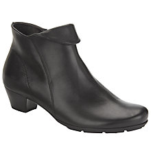 Buy Gabor Ottawa Leather Ankle Boots, Black Online at johnlewis.com