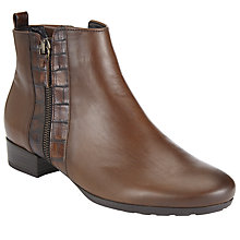 Buy Gabor Rundle Wide Leather Ankle Boots Online at johnlewis.com