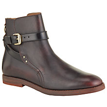 Buy H by Hudson Quartz Leather Ankle Boots, Red Online at johnlewis.com