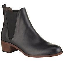Buy H By Hudson Compound Chelsea Boot, Black Leather Online at johnlewis.com