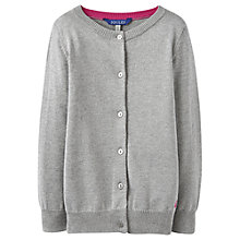 Buy Little Joule Girls' Lurex Button Cardigan Online at johnlewis.com