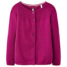 Buy Little Joule Girls' Swing Cardigan, Ruby Online at johnlewis.com
