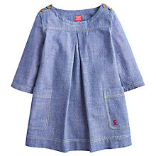 Buy Little Joule Spot Chambray Tunic, Blue Online at johnlewis.com
