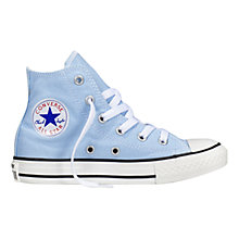 Buy Converse CTAS Hi Seasonal Canvas Trainers, Sky Blue Online at johnlewis.com