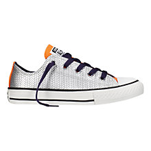 Buy Converse CTAS Lo Shine Trainers, Silver/Multi Online at johnlewis.com
