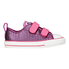Buy Converse CTAS 2V Shine Low Trainers, Pink/Multi Online at johnlewis.com