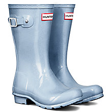 Buy Hunter Glitter Wellington Boots, Porcelain Blue Online at johnlewis.com