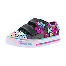 Buy Skechers Twinkle Toes Flower Shoes, Multi Online at johnlewis.com
