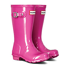 Buy Hunter Children's Wellington Boots, Lipstick Gloss Pink Online at johnlewis.com