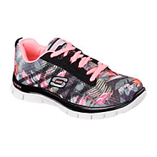 Buy Skechers Skech Appeal Floral Bloom Trainers Black/Multi Online at johnlewis.com