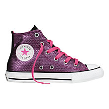 Buy Converse CTAS High Top Shine Trainers, Pink Online at johnlewis.com