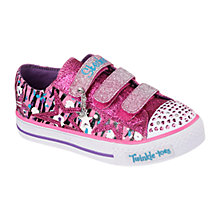 Buy Skechers Twinkle Toes Lighted Sparkle Shoes, Pink Online at johnlewis.com