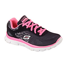 Buy Skechers Skech Appeal Serengeti Trainers, Black/Pink Online at johnlewis.com