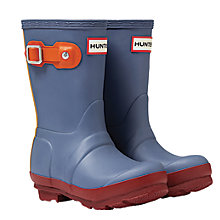 Buy Hunter Children's Wellington Boots, Mineral Blue Online at johnlewis.com