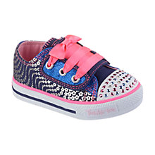 Buy Skechers Shuffle Flower Wave Trim Shoes, Multi Online at johnlewis.com