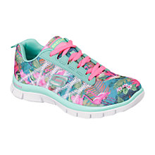 Buy Skechers Skech Appeal Floral Bloom Trainers, Aqua/Multi Online at johnlewis.com