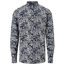 Buy Kin by John Lewis City Lights Cotton Shirt, Navy Online at johnlewis.com