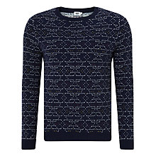 Buy Kin by John Lewis Birdseye Geometric Knit Lambswool Blend Jumper, Navy Online at johnlewis.com