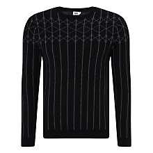 Buy Kin by John Lewis Skyline Merino Wool Jumper, Black Online at johnlewis.com