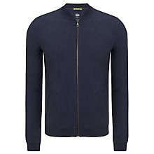 Buy Kin by John Lewis Zip Through Jersey Bomber, Navy Online at johnlewis.com