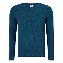 Buy Kin by John Lewis Double Moss Ribbed Lambswool Jumper, Teal Online at johnlewis.com